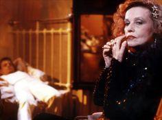 """""""Querelle"""" by Rainer Werner Fassbinder (1982) - Jeanne Moreau (Brad Davis in the background)"""