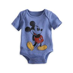 Mickey Mouse Disney Cuddly Bodysuit for Baby ($15) ❤ liked on Polyvore featuring baby, kids, baby clothes and baby boy clothes