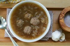 Crockpot Onion and Meatball Soup (GAPS Intro Stage 1)