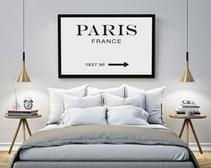Paris, Prada Marfa Inspired print, Fashion Quote, Marfa Gossip Girl Inspired, Typography Quote, Prada Marfa Art, Large Wall Art, 36 x 48.