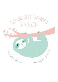My spirit animal is a Sloth Canvas Print