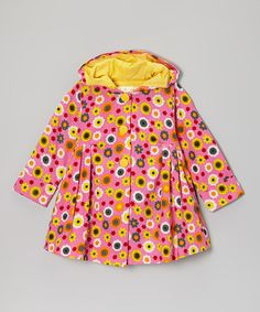 Another great find on #zulily! Pink & Yellow Daisies Hooded Swing Coat - Infant & Toddler by Maria Elena #zulilyfinds