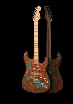 CORRODE – Nicolas Noverraz Fender Stratocaster calamart galerie urbaine galerie d'art contemporain à Genève