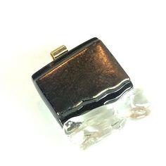 Art Glass Jewelry Black and Flat Black Copper by coastalartglass