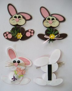By linda's stampin loft; bunnies #punchart. circles, heart, ovals punches from SU  visit me at http://stampingwithbibiana.blogspot.com/