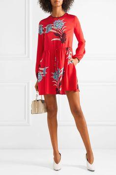 Diane von Furstenberg | Printed stretch-silk georgette mini dress | NET-A-PORTER.COM