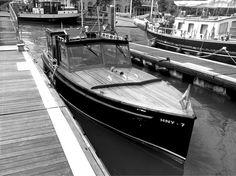 De klassieke watertaxi voor de veerdienst veerhaven- hotel newyork