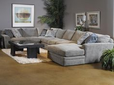 Oversized sectional delta city steel gray microfiber for Bella flora double chaise lounge