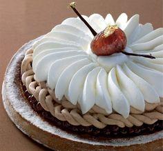 Tarte Mont Blanc à ma façon Recette réalisée par frederic CASSEL - Fontainebleau - Président des Relais Desserts.
