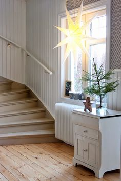 A star in the window for our Moma.Mpp and kph Grey Interior Design, Decor, Interior Design Living Room, Home, Interior And Exterior, Wood Interior Design, House, Trending Decor, House Interior