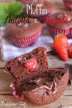 Muffin Nutella e Fragole,ricetta - Dolcissima Stefy