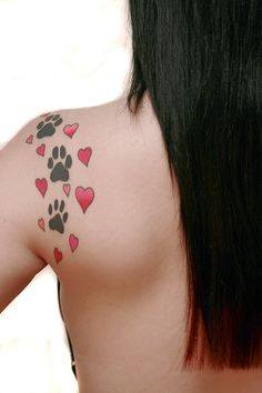 Dog Paws and Hearts
