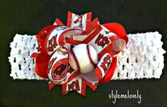 Hey, I found this really awesome Etsy listing at http://www.etsy.com/listing/157474802/st-louis-cardinals-baby-girl-bow