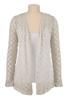 Textured Open Front Cardiwrap (original price, $34) available at #Maurices