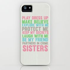 sisters iPhone & iPod Case by studiomarshallarts - $35.00