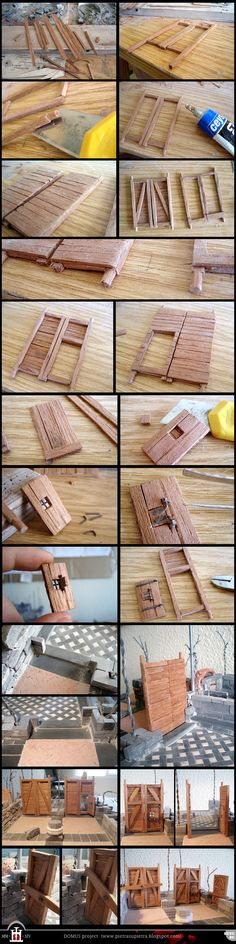 Domus project Doors of the warehouse (I) by Wernerio on DeviantArt Wood Crafts, Diy And Crafts, Fairy Crafts, Mini Things, Miniature Houses, Miniature Furniture, Miniture Things, Fairy Houses, Model Homes