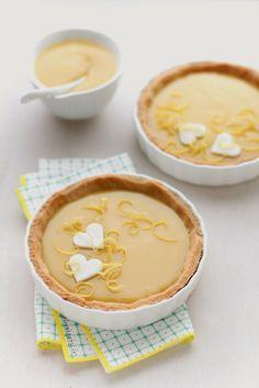 - VANIGLIA - storie di cucina: crostatine di frolla al kamut con crema di limone e cioccolato bianco