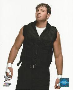 WWE 8x10 Official Promo Photo Dean Ambrose White Shirt Attire 2014