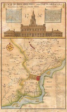 1752 ( 1850 )Map of Philadelphia
