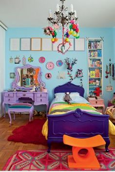 I'm totally going to encourage my kids to have rooms as wild as this. My mom was a hero for letting me be so crazy with my bedroom decor. Thanks mom!
