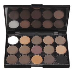 Professional 15 Colors Smoked Eyeshadow Palette Warm Matte Shimmer... ($4.06) ❤ liked on Polyvore featuring beauty products, makeup, eye makeup, eyeshadow, beauty, brown, filler, palette eyeshadow, eye brow makeup and eye pencil makeup