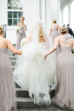Gray Bridesmaids Dresses | photography by http://amycampbellphotography.com/