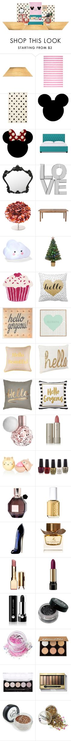 """my bedroom"" by analuizam-ferreira-rbd on Polyvore featuring beleza, nuLOOM, PBteen, Ethan Allen, Home Decorators Collection, Merske, Thro, DENY Designs, Samsung e Ilia"