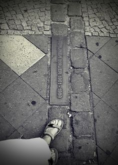 Where the Berlin wall use to stand....only 12 inches of concrete, but separated two worlds