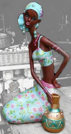 Inspiration African Decor - Estilo Próprio by Sir African Dolls, African Girl, African American Art, African Beauty, African Women, African Fashion, African Artwork, African Art Paintings, Black Women Art
