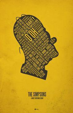 Homer's head poster