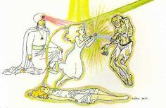 Fig. 45: O suicídio é o pior tipo de morte, pois o suicida fica ligado espiritualmente ao cadáver e sente os efeitos da putrefação. Vemos na ilustração, ... Leia mais em: Amparadores Extrafísicos II #WagnerBorges #AssistenciaEspiritual #ViagemAstral #ProjecaoAstral #ExperienciasForadoCorpo #ProjecaoDaConsciencia  #ViagemEspiritual #EFC #OBE #OutOfBodyExperiences #AstralProjection #ImortalidadeDaConsciencia  #VidaAposAMorte  #Sattva #DiscernimentoEspiritual #Chakras #Chacras #AstralVoyage