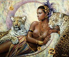 cuadros-en-oleo-de-mujeres-africanas-negras