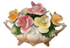 "Italian Capodimonte Porcelain Flowers - 11""L x 6""W x 8""H - $89.00 ($199.00)"