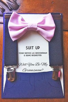 Groomsmen Proposal Ideas And#8220;Will You Be My GroomsmanAnd#8221; ❤ See more…
