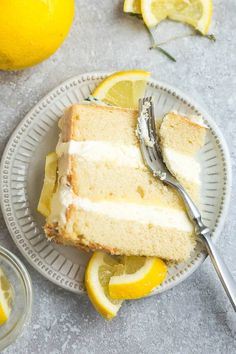 This Keto Lemon Cake is moist, soft and full of lemon flavor. It's easy to make in one bowl and the perfect low carb dessert for spring and summer parties. Paleo Lemon Cake, Sugar Free Lemon Cake, Gluten Free Lemon Cake, Lemon Cream Cake, Keto Cake, Sugar Free Desserts, Lemon Desserts, Sugar Free Recipes, Easy Cake Recipes