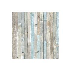 Ocean Drift Wood Bedroom Wallpaper - Silver Grey's, Cool Blues, Earthy Browns