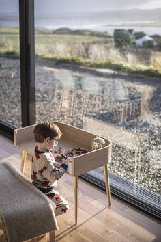 The stunning Hugg Crib from Bababou can be transformed into a desk and bench. To be used for years to come. Never to be thrown out or discarded. Sustainable design and sustainable ethos makes this a winner for your home.