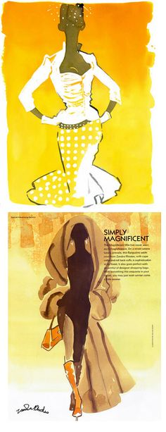 Eduard Erlikh #Fashion illustration - love the one at the top, want an outfit like that!