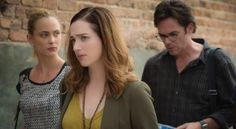 #Zoo: Nora Arnezeder as Chloe Tousignant, Kristen Connolly as Jamie Campbell, and Billy Burke as Mitch Morgan.