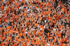 ''Oranje'' or Orange in English is the name of the royal Dutch family. The color orange symbolizes the Dutch nationality. Clemson University Football, Syracuse University, University Of South Carolina, Cfp National Championship, Tennessee, Painting, Outdoor, Country Bumpkin, Crowd