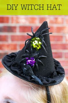 Cute and Simple DIY Witch Hat tutorial on @lilluna #MichaelsMakers