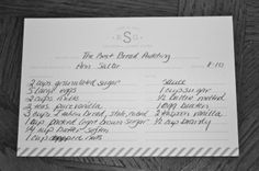 bridal shower recipes | Toast & Laurel - Blog - recipe card shower . . . by mail