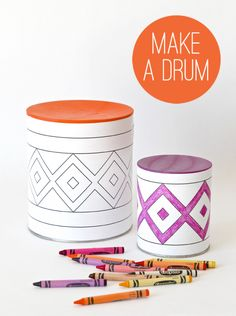 DIY Tin Can Colorful Drum (via Paging Supermom) Great idea to use during preschool music time for G-Force VBS!