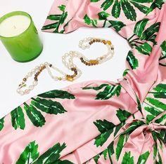 Little Palms kimono robe by The Blush Label. : Matilda's Lifestyle in Stuart, FL