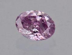 0.17 carat purple diamond - an extremely rare color.