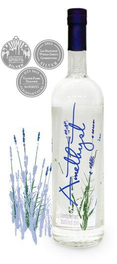 Amethyst Lavender Gin Bottle PD