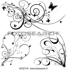 éléments floraux, c Voir Illustration Grand Format