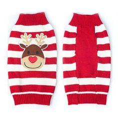 Striped Christmas/Reindeer Sweater