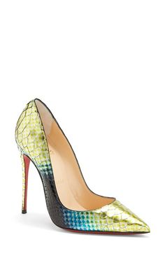 Christian+Louboutin+'So+Kate'+Painted+Genuine+Python+Pointy+Toe+Pump+available+at+#Nordstrom