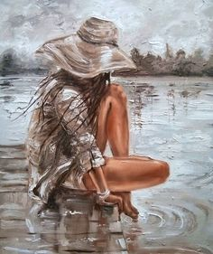 """The Lake Of Memories ..."" | Oil Painting by Monika Luniak"
